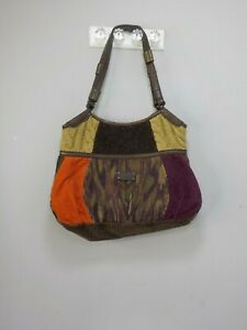 Lucky-Brand-Patchwork-Hobo-Bag-Shoulder-Purse-Corduroy-Sweater-Hippie