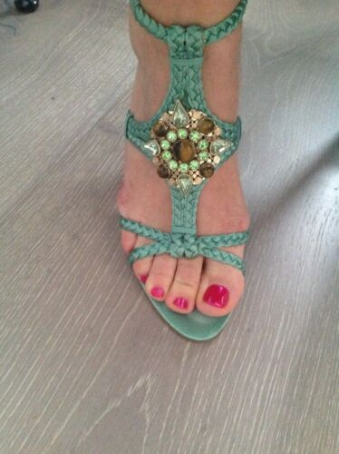 Ladies Taille Couleur Vert Us8 Sandals Eu39 Unique West Summer Nine 1qWRnY
