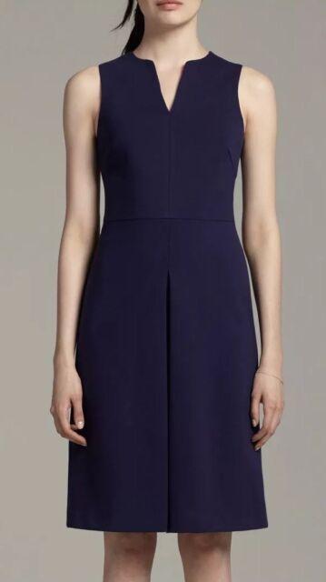 M M Lafleur Womens The Cherie Dress Navy Blue Size Small Sleeveless Stretch