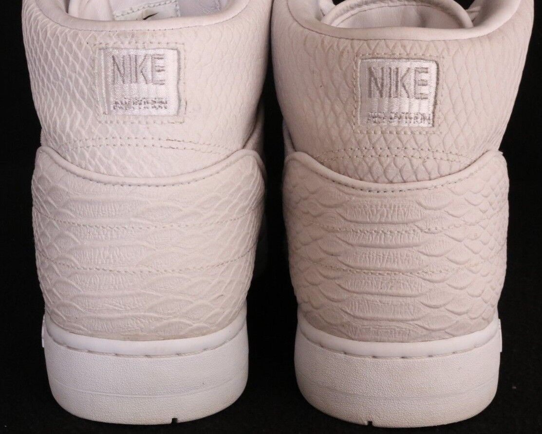 new style 8ebee 72d74 ... Nike Nike Nike 705066-100 Air Python Snake Hi White Basketball Fashion  Sneakers Men s US ...