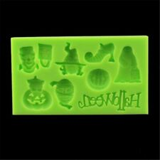Ghost Baking Mold Silicone Fondant Mould Halloween Cake Sugarcraft Pumpkin Witch