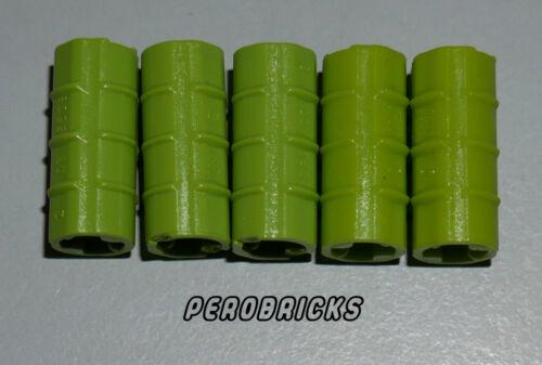 Lego Technic Technik 5x Verbinder mit Riffelung #6538b lime