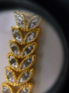 Tennis-Bracelet-1-CTW-Diamond-18K-Gold-Plated-Genuine-Rose-Cut-Macy-039-s-MSRP-250