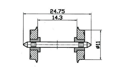 Roco HO 40199 NEM-Normradsatz 11mm 2 Stück NEU OVP