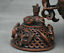 8-8-034-Marked-Old-China-Qing-Red-Copper-Dynasty-Dragon-Beast-Incense-Burner-Censer thumbnail 9