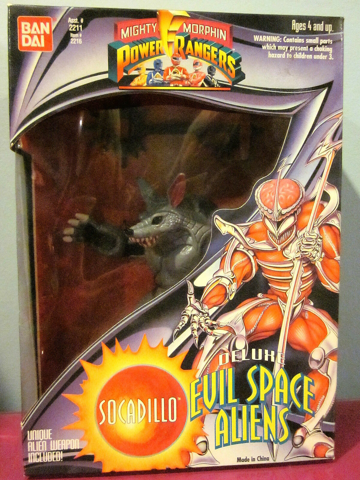 Mighty Morphin Power Rangers Evil Space Aliens Socadillo Socadillo Socadillo Sealed 41385d