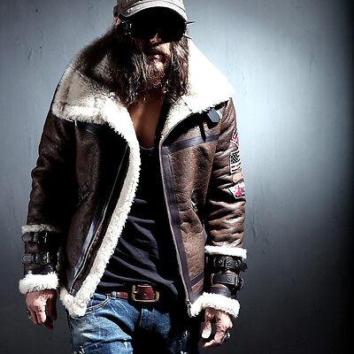 BytheR Men's Korean Fashion Faux Leather Patch Black Brown Jacket P000BGQK