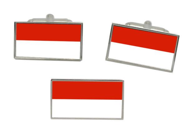 100% QualitäT Salzburg Österreich Flagge Manschettenknopf Und Krawatte Nadel Set Ruf Zuerst
