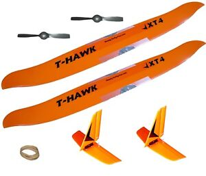 T-Hawk-AeroHawk-RC-Airplane-Speed-Wing-Tail-Propeller-Bands-2X-Value-Combo