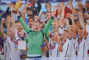 Details Zu Deutsche Nationalmannschaft A3 Poster 42 X 28 Cm Fussball Weltmeister 2014