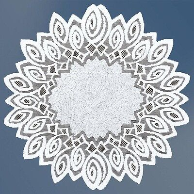"Round cream or white lace Table Mat/Doily/Napkin/Tablecloth Ø70cm(28"") polyester"