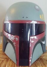 Star Wars Electronic Talking Boba Fett Helmet Green 2009 Hasbro