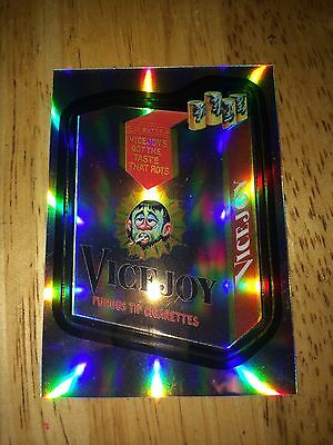 2014 WACKY PACKAGES CHROME REFRACTOR CARD VICEJOY CIGARETTES 3 VICE SMOKE 60'S