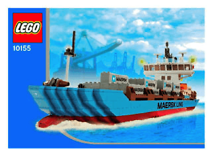 Lego-Maersk Line Container Ship 10155 -Retired Set-Brand New