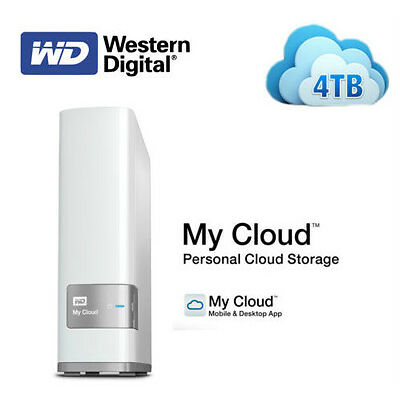 WD My Cloud 4TB Private Cloud NAS Storage ( WDBCTL0040HWT )
