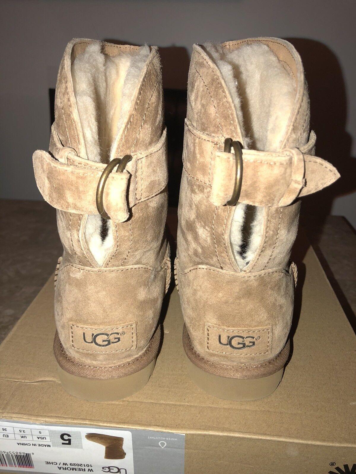 UGG Femmes Remora Boucle Taille 5 Laine Marron Résistant À L eau WinteBoots Chaussures New