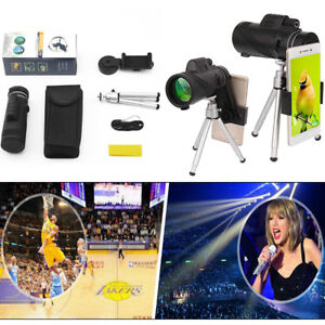 40X60-Zoom-Monocular-Telescope-HD-Optical-Lens-Tripod-Clip-For-Mobile-Cell-Phone