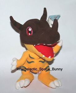 "2000 Banpresto Digimon Greymon 10"" Inch Plush w/ Tag Japanese Japan"