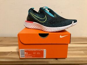 Nike-Epic-Phantom-React-Flyknit-GS-Size-6y-Running-Shoes-BV1370-073