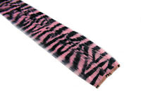 """CLIP-IN 12"""" HAIR EXTENSION BABY PINK ZEBRA TIGER PRINT EMO SCENE GOTH PUNK FUNKY"""