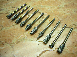 2 Pcs 6MM Cylindrical EndCut THK Tungsten Carbide Rotary Burrs 6MM Shank B6