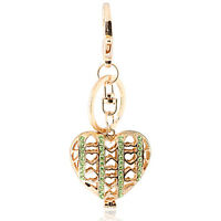 Handbag Buckle Charm Accessories Love Gold Hollow Heart Keyrings Key Chains Hk56