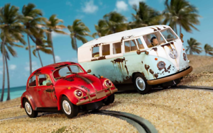 Scalextric C3966a VW Escarabajo y Camper West Coast Rat Look Edición Limitada