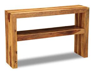 Image is loading LIVING-ROOM-CUBA-LIGHT-SHEESHAM-WOOD-CONSOLE-TABLE- c29cd2e181dc