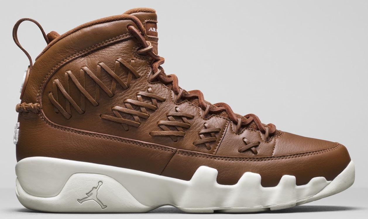 Nike air jordan 9 ix vertice guanto brown noi 14 ah6233 903 cuoio