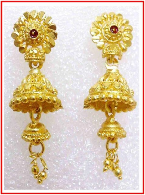 hoop indian earrings gold with