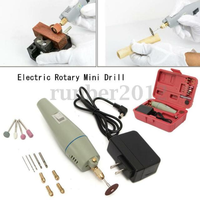 17PCS Electric Rotary Mini Drill & Bit Set Grinder Polishing Tool Professional