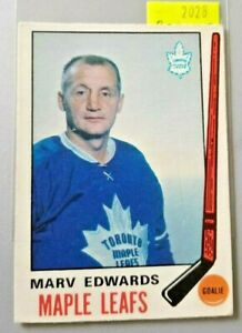 1969-70-O-Pee-Chee-185-Marv-Edwards-ROOKIE-Toronto-FREE-COMBINED-SHIP-R2028