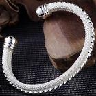 Solid Silver Fashion Jewelry Large 1837 Round Men Bracelet Bangle BW078