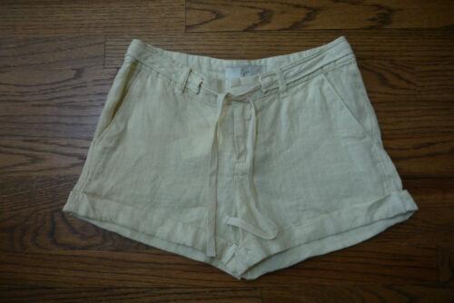 Nwt donna 0 da in in Shorts Sz ~ con lino sabbia laccetti Joie Jewell xq01gwZY
