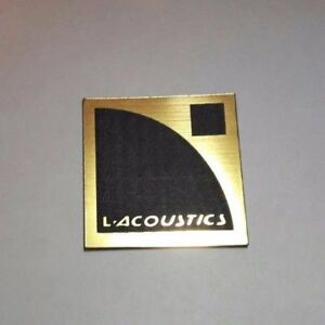 Details About L Acoustics A With Letters Logo Badge Plastic 40 Mm Gold Color 1 7 16