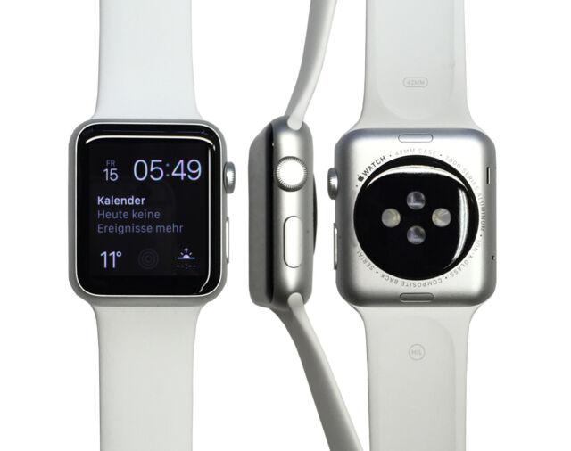 Apple Watch Sport 42mm in Silber/Weiss vom Händler MJ3N2FD/A