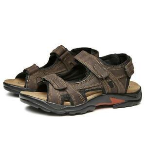 Summer-Mens-Walking-Beach-Slingbacks-Sandals-Shoes-Sports-Hook-amp-Loop-Anti-skid