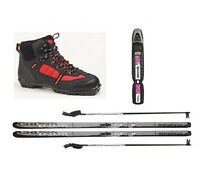 Whitewoods Junior Nnn Cross Country Package Waxless Skis Boots Poles 137cm