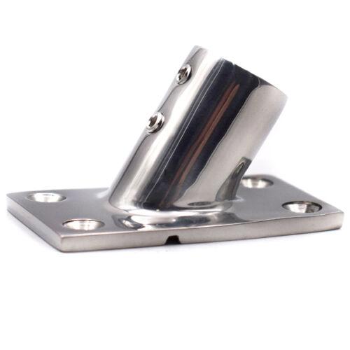 "1PC Stainless Steel Boat Hand Rail Fitting 60 Degree 7//8/"" Rectangular Base HOT"