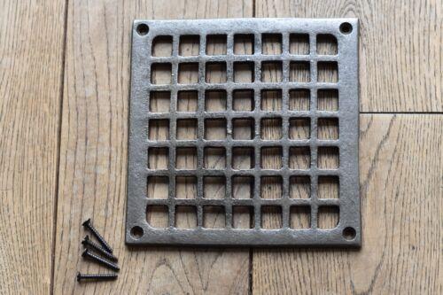 A fantastic Victorian style square cast iron grill vent cover SB1