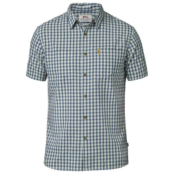 Fjäll Räven High Coast Shirt SS, Herren Hemd kurzarm, UN Blau