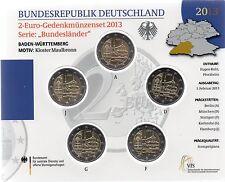 2 Euro commémorative d'Allemagne 2013 Brillant Universel (BU) - Bade-Wurtemberg