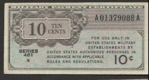 USA/MPC ... P-M2 (Series 461) ..10 Cents ... ND(1946) .. Choice *VF-XF* Block #5