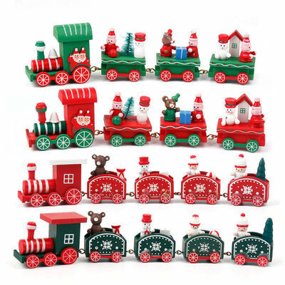 Xmas Wooden Train Kids Favor Christmas 2018 Gifts Hanging Ornament Tree Decor