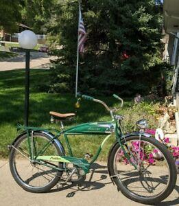 "BEAUTIFUL Vintage 1951 Schwinn Green Panther Tank Bike Phantom Hornet 26"" S2"