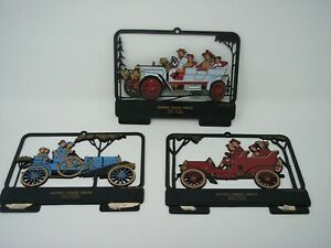 TEXACO Calendar Plastic Tops Vintage Cars Lot of 3 Hunter's Texaco Gilcrest CO