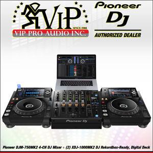 Details about Pioneer DJM-750MK2 4-CH DJ Mixer w/Club DNA + (2) XDJ-1000MK2  DJ Rekordbox-Ready