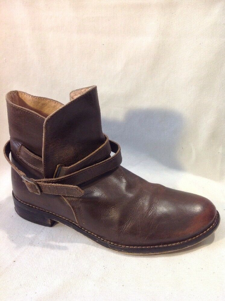 Johnnie b Brown Ankle Leather Boots Size 38