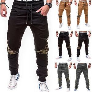 Men S Jogger Pants Fashion Sports Gym Workout Hip Hop Track Trousers