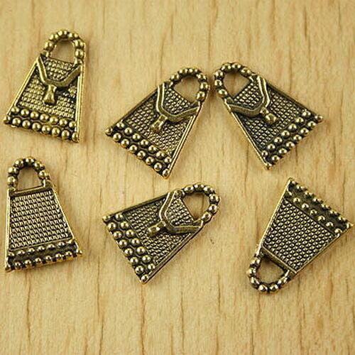 50pcs dark gold-tone handbag charms h2132